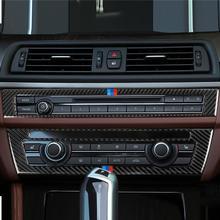 For BMW F10/5 Series Interior Trim Carbon Fiber Car CD Control Panel Stickers AC CD Panel Frame Accessories montrose montrose original album series 5 cd