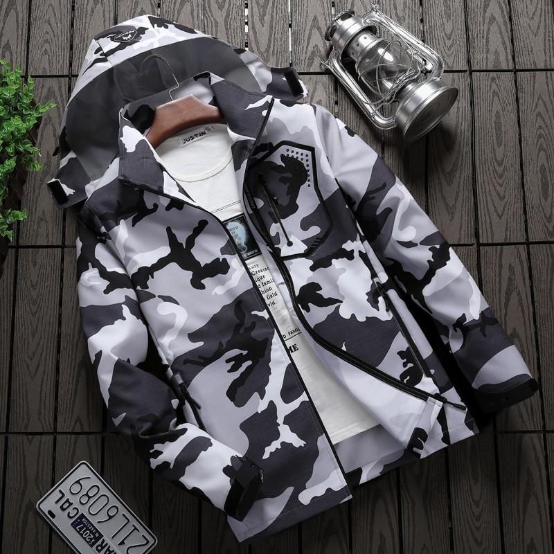 Plus Size 6XL 8XL Men's Casual Waterproof Jacket Spring Autumn Tourism Mountain Jacket Male Windbreaker Hooded Coat Men Clothing