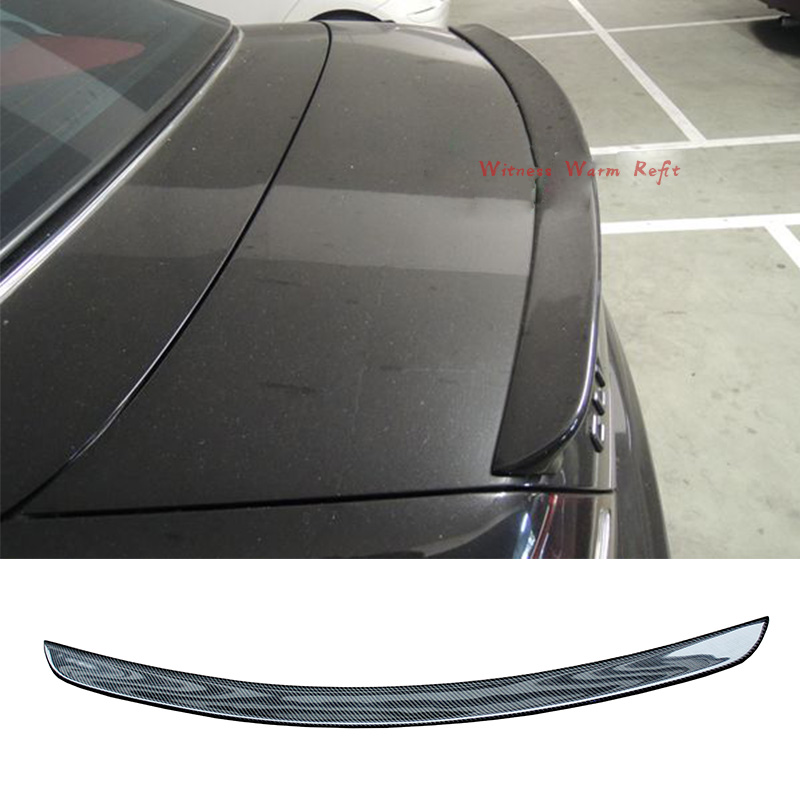 CLK Class Carbon Fiber Car Rear trunk boot lip <font><b>spoiler</b></font> wing For Mercedes Benz <font><b>W209</b></font> C209 Coupe AMG style 2003-UP image