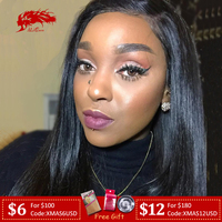 Ali Queen Hair 13X4/13x6 Straight Lace Front Wig Natural Color 360 Lace Frontal Wig 8 to 36 Virgin Remy Human Hair Wigs