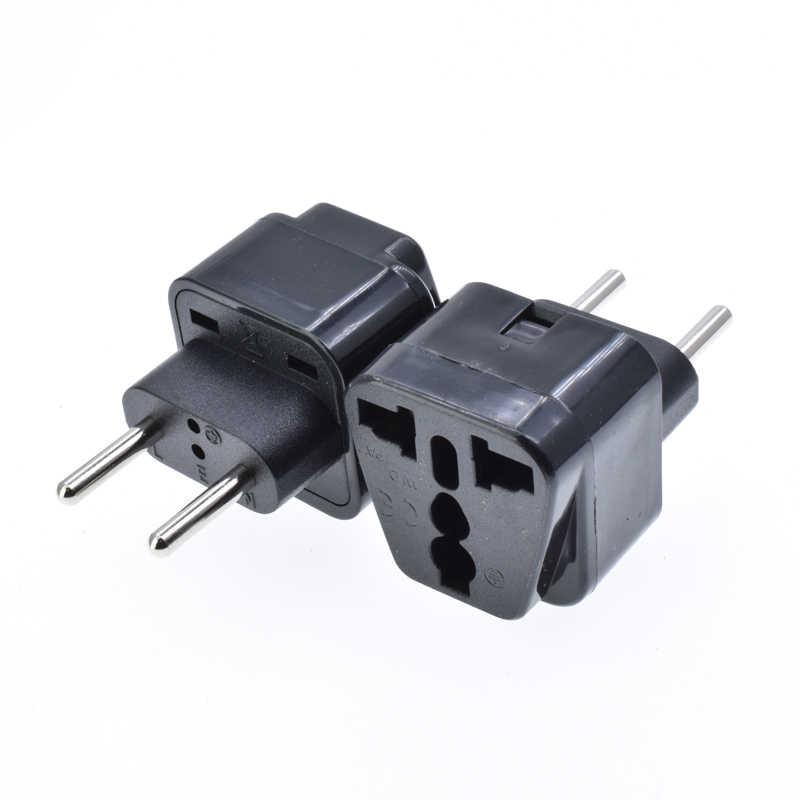 Adaptador de enchufe Universal a UE redondo 2 pines 4,0mm adaptador de toma de corriente integrada 10A250V viaje europeo coreano enchufe eléctrico