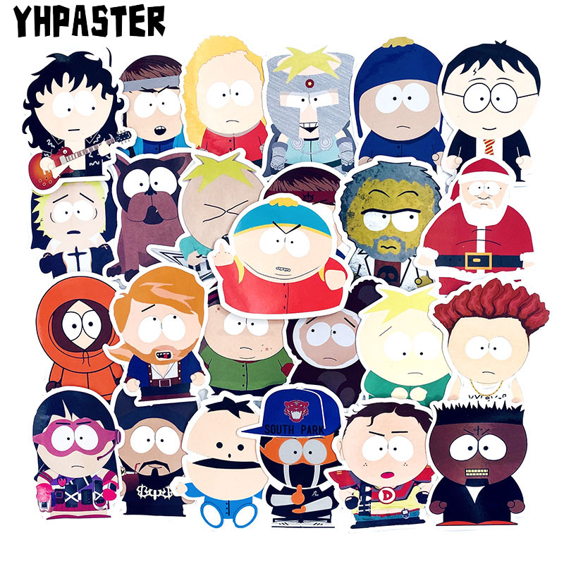 50 Pcs/Pack South Park Anime Cartoon Stickers Toys For Children Motorcycles Skateboards Phones DIY Hand Diaries Scrapbook