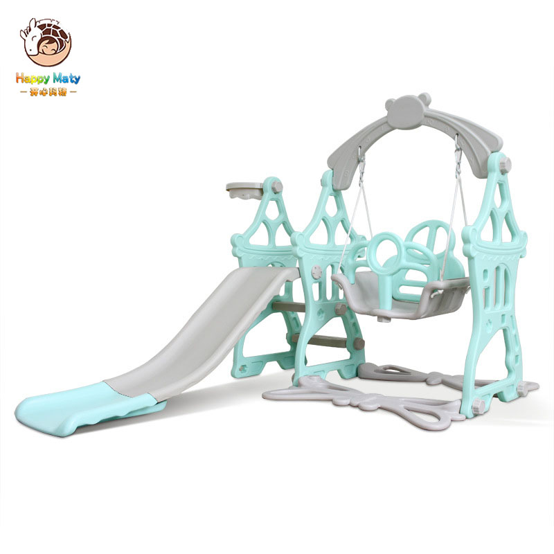 Baby Swing Chair Music Slide Combination Indoor Playground With Shoot Basketball Music And Learning Machine Prince Princess Toys