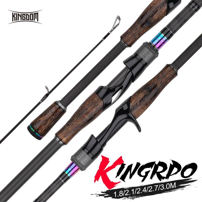 Reino rei pro varas de pesca duas seção têm 2pc ponta superior ou multi-seção alimentador hastes fiação e fundição pesca vara de viagem