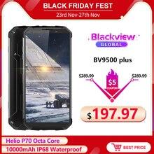 Blackview BV9500 Plus смартфон с 5,99 дюймовым дисплеем, восьмиядерным процессором Helio P70, ОЗУ 4 Гб, ПЗУ 64 ГБ, Android 5,7, 9,0 мАч