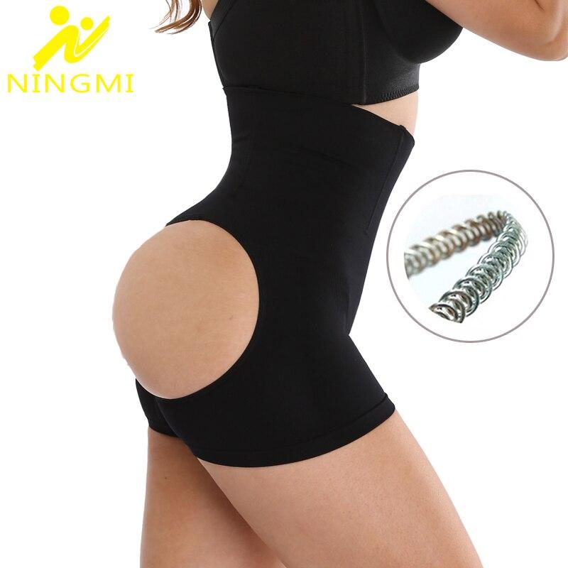 NINGMI Sexy Butt Lifter Control Panties Waist Trainer Cincher Women Hip Bottom Enhance Panties Shorts Brieft Body Shaper