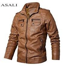 PU cuir veste hommes manteaux polaire 5XL col montant moto veste mâle jaqueta 2020 hiver fausse fourrure hommes affaires vêtements dextérieur
