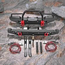 1:10 RC Rock Car Metal Front Rear Bumpers For Traxxa SCX10II RC 90046 Crawler Accessories For TRX-4 C6W5