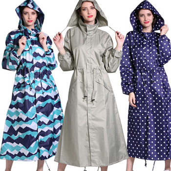X-long Fashion Slim Large Size Fully Sealing Glue Water Resistant Raincoat Poncho Raincoat Women Windbreaker Long Coat Women