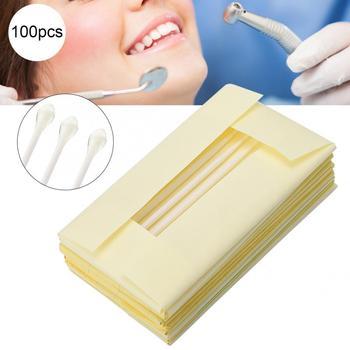 100pcs Disposable Dental Materials Brush Applicator Adhesive Tip for Tooth Crown Porcelain Veneer Teeth Whitening Oral Care Tool