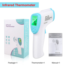 Non-Contact Infrared Digital Thermometer Forehead Thermometers Baby Adult Object Measure Device Termometro in stock