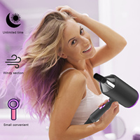 2000W Professional Hair Dryer 220V Electric Dryer Hair Hammer Hairdryer Blow Negative Ion Blue light Mini Blower Dry Strong Wind 2