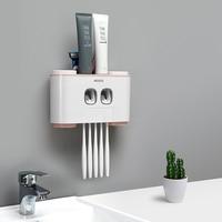 Dispensador de pasta de dentes automático criativo wall-mounted qualidade à prova de poeira escovas de dentes suportes multifunções conjuntos de lavagem do banheiro
