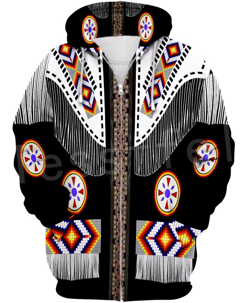Tessffel Indian Native Culture Harajuku Casual Colorful Tracksuit New Fashion 3DPrint Unisex Hoodie/Hoodies/Zipper Men Women S-2
