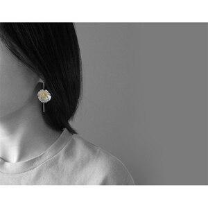 Image 3 - INATURE 925 en argent Sterling grande fleur de pavot boucles doreilles goutte pour les femmes bijoux de mode cadeau