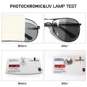 Image 3 - Caponi男性のフォトクロミッククラシックスタイル合金眼鏡ヴィンテージ偏光レンズavation男性UV400 BS8722