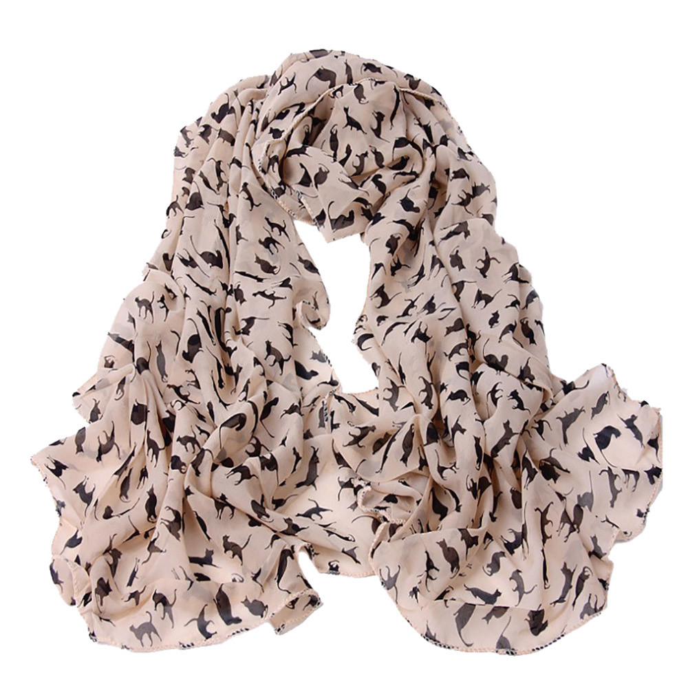 2019 New Fashion Women Scarf  Little Cat Long Soft Wrap Scarf Shawl Scarf New Arrival On Sale Wholesales #Nu