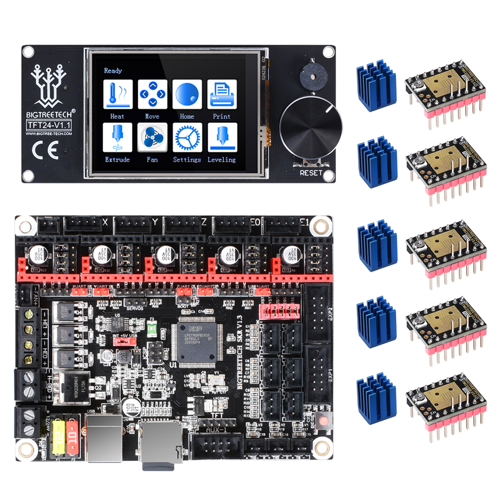 BIGTREETECH SKR V1.3 3D Printer Board+TFT24 Touch Screen+TMC2209 TMC2208 UART TMC2130 For Ender 3/5 MKS GEN L 3D Printer Parts