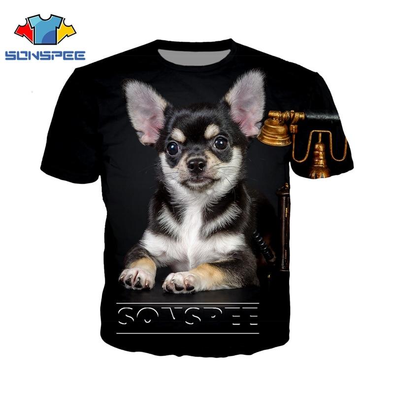 Anime 3d Print T Shirt Men Women Animal Dog Chihuahua Top Fashion T-shirt Kids Harajuku Sexy Rock Tees Funny Shirts Homme Tshirt