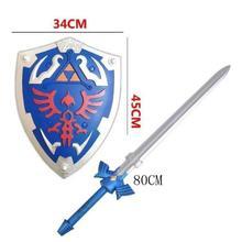 80 см, ролевые игры, подарок, 1:1, меч и щит неба/набор, безопасный подарок для детей, оружие из полиуретана, меч для косплея