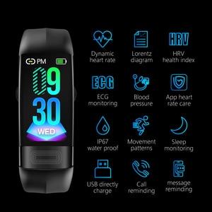 Image 2 - P11 ECG + PPG سوار ذكي جهاز تتبع معدل ضربات القلب لأغراض اللياقة البدنية ساعات ضغط الدم بلوتوث مقاوم للماء أجهزة يمكن ارتداؤها