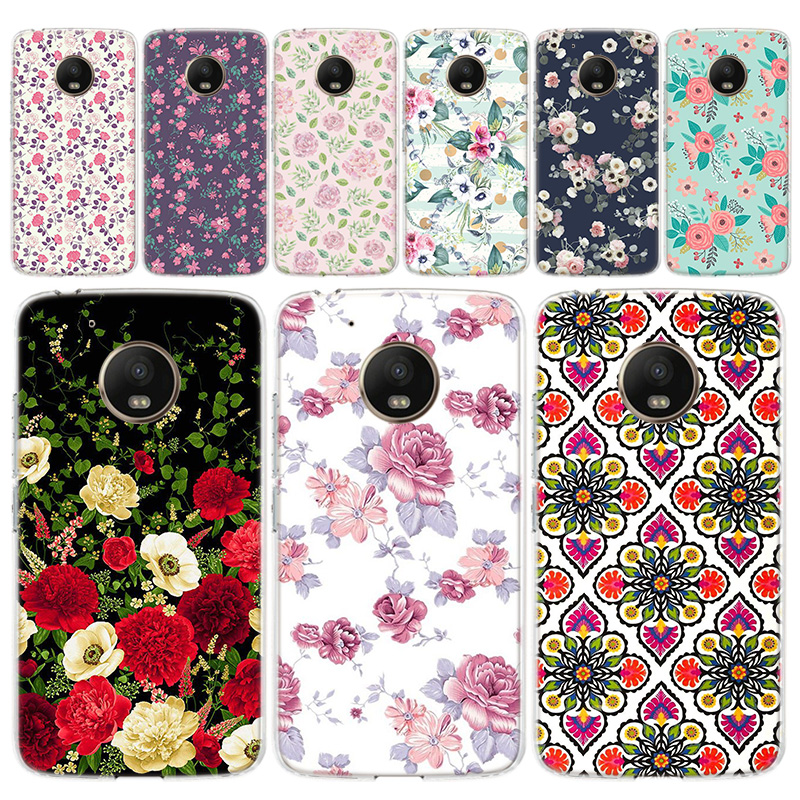 Vintage Mandala Flowers Designs Phone Case For Motorola MOTO G8 G7 G6 G5 G5S G4 E6 E5 E4 Plus Play Power One Action Soft Silicon