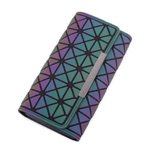 purse Tao Bao Women Long Clutch Luminous Wallet Geometric Lattice Standard Zipper Wallets Noctilucent Purse