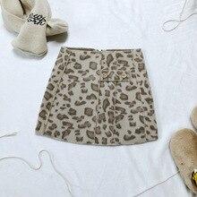Новинка года; стильная леопардовая юбка для девочек; Осень-зима; дети; юбка для девочки 2-7 лет