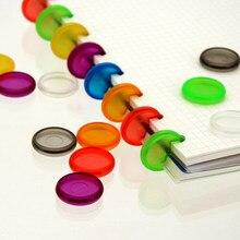 Fromthenon anéis de scrapbooking, 18/24/28mm cor transparente buraco de cogumelo disco para notebook anel acessórios planejadores