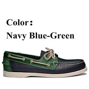 Image 5 - Sapato de condução de couro genuíno, sapato clássico de barco, nova moda mocassins unissex design de marca a010