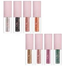 8 Colors Shiny Liquid Glitter Eyeshadow Shimmer Eyeshadow Smooth Waterproof Long-lasting Eyeshadow