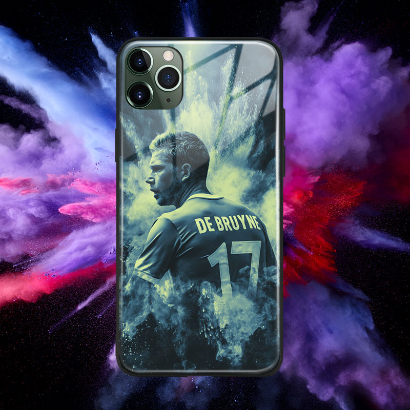 Kevin De Bruyne design Tempered Glass Soft Silicone Phone Case Cover Shell For iPhone SE 6s 7 8 Plus X XR XS 11 Pro Max