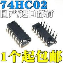 10 pçs/lote/74HC02 74HC02N SN74HC02N HD74HC02P DIP14 Em Estoque