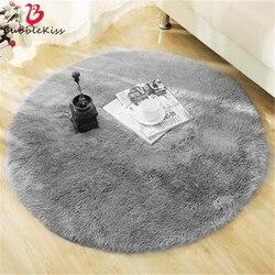 Tapis rond moelleux tapis pour salon décor fausse fourrure tapis enfants chambre longue peluche tapis pour chambre Shaggy zone tapis moderne
