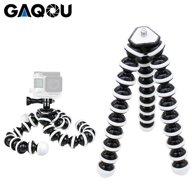 GAQOU Large Size Flexible Tripod Stand Mini Gorillapod Monopod Octopus Tripode for Gopro Digital Camera Canon Nikon Mobile Phone