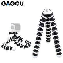 Gaqou grande tamanho flexível tripé suporte mini gorillappod monopod polvo tripode para gopro câmera digital canon nikon telefone móvel