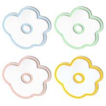 6 шт/партия акриловые подставки с цветами чашки для чая напитков