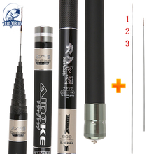 купить Power Hand Pole Fishing Rod Ultra Hard Super Light Extra Long High Carbon 8M-13M Telescopic Rod Free The Spare First 3 Sections по цене 1504.53 рублей