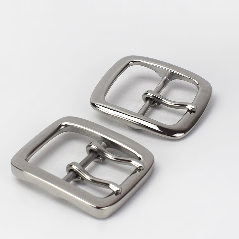 Deepeel 1pc 40mm Stainless Steel Single Double Pin Buckles Men's Belt Buckle Head DIY For 38-39mm Waistband Hardware Accessories