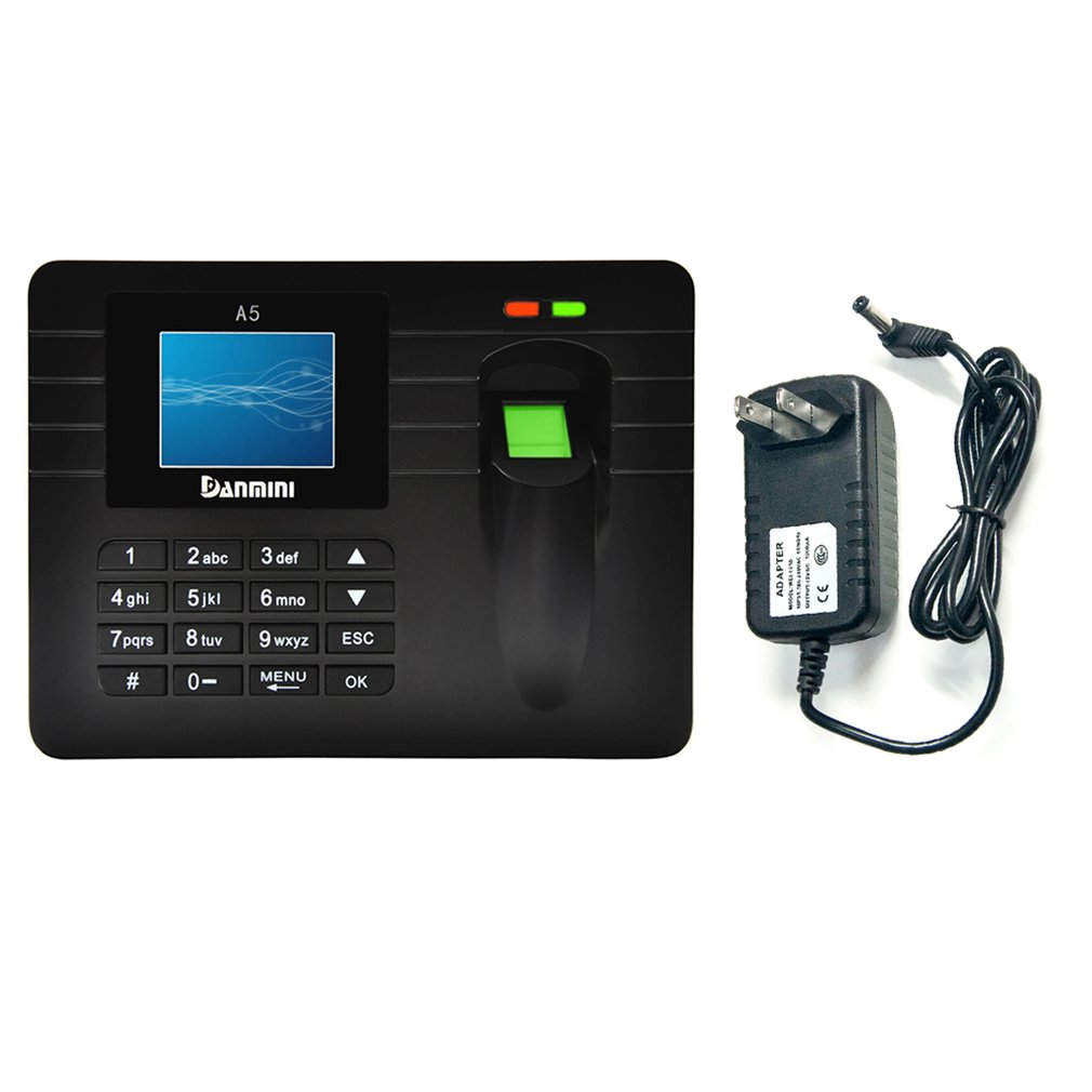 A6 LCD Display Smart Attendance Machine Recorder Biometric Fingerprint Time Clock Reader High Precision Reflect Fingerprint