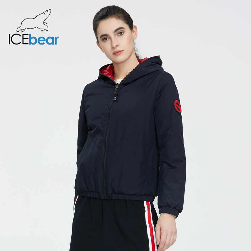 ICEbear 2020 숙녀 봄 재킷 패션 캐주얼 여성 재킷 착용 양면 여성 코트 브랜드 의류 GWC20080I