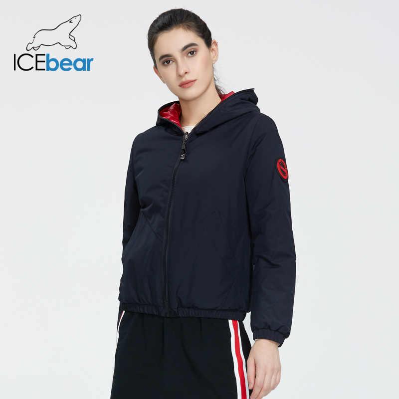 ICEbear 2020 damska kurtka wiosenna moda na co dzień kobiety kurtka nosić obie strony damski płaszcz odzież marki GWC20080I