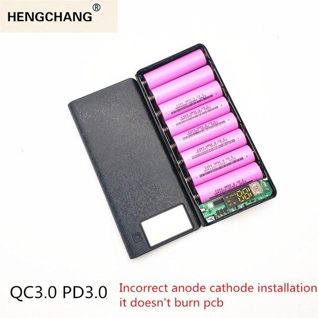 Schnell Ladung Power Bank 18650 Fall QC 3,0 PD 3,0 Batterie Halter Schnelle Ladegerät Box Shell DIY HENGCHANG Dropshipping