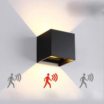 Lampa ścienna led czujnik ruchu zewnętrzna wodoodporna ściana lampa pokój hotelowy lampka nocna naścienna led proste kwadratowe przyciemnianie tanie i dobre opinie ROUKEYMI CN (pochodzenie) ROHS Pieczenie w aluminium RY017 IP65 85-265 v Lampy ścienne 2years Z aluminium ART DECO Oświetlenie do obiektów handlowych