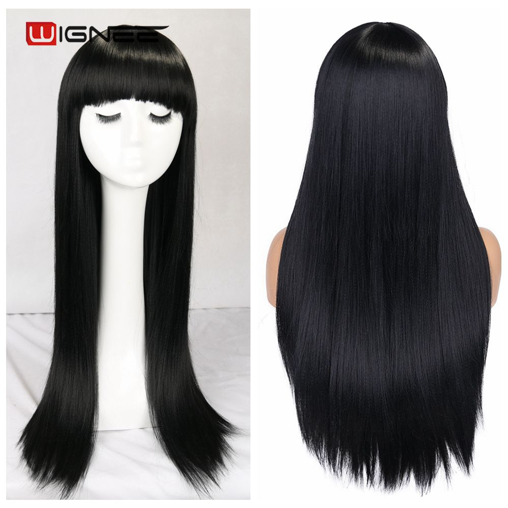 Peruca longa para mulheres, peruca sintética longa
