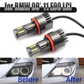 160 Вт яркий белый светодиодный светильник Angel Eye Halo H8 без ошибок для BMW 2009-2011 3 серии E90 Sedan (LCI)