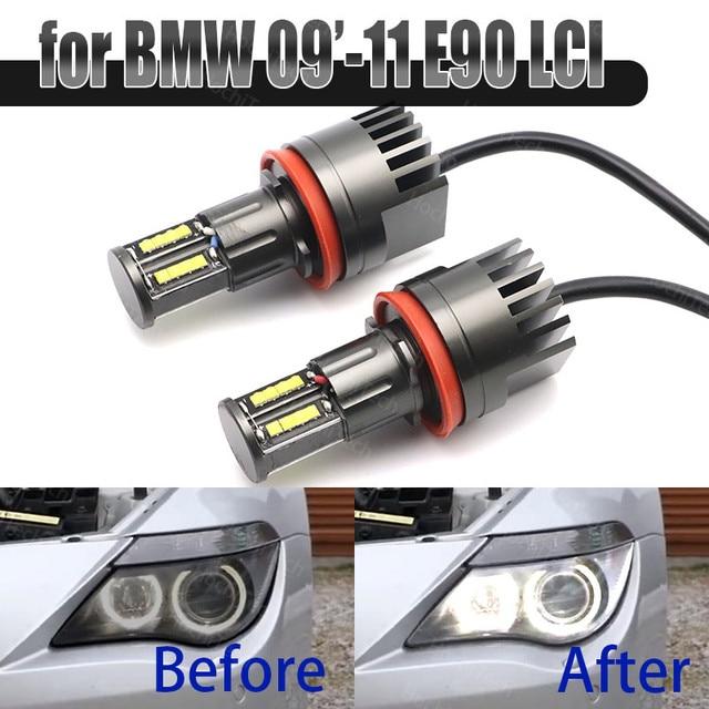 160W Bright White Color LED Angel Eye Halo Light H8 No Error for BMW 2009 2011 3 Series E90 Sedan (LCI)