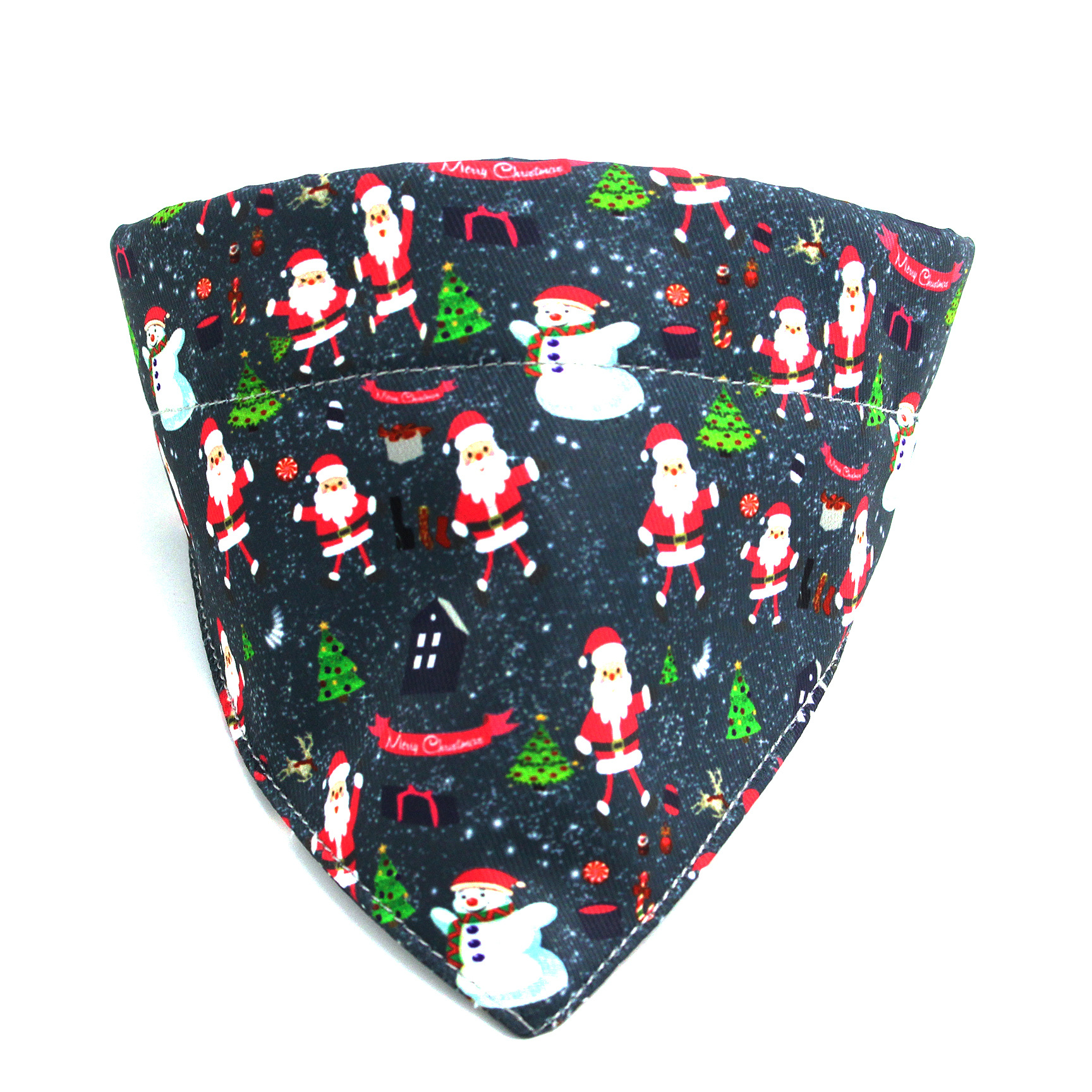 Christmas Triangular Binder Pet Collar Japanese Style And Wind Printed Dog Bibs Nylon Dog Collar