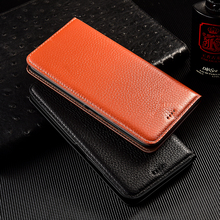 Litchi Patter Genuine Leather Magnetic Flip Cover For iPhone 12 mini 11 12 Pro Max 6 6s 7 8 Plus X XR XS Max Case Luxury Wallet