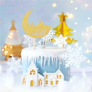 Image 5 - 1/10pcs Eid Mubarak Cake Topper Ramadan Cake Toppers Muslim Islam Festive Party Event Cakes Decor Gold Silver Baking Tool Gadget